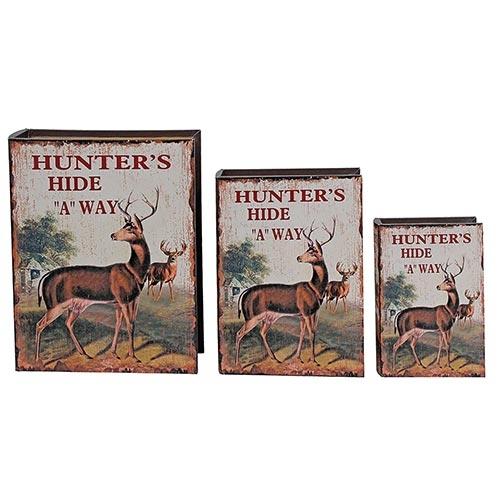Conjunto Book Box Hunters Hide Oldway - 3 peças - 35x26 cm
