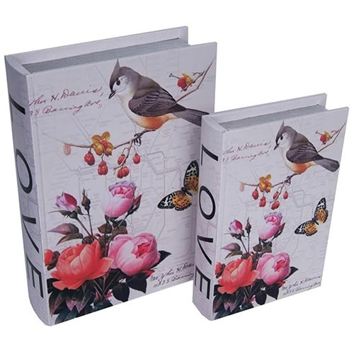 Conjunto Book Box Love Birds and Butterflies Collection Vell Chic - 30x22 cm