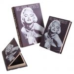 Conjunto Book Box Marilyn Monroe - 3 Peças - Preto e Branco em MDF - 30x19 cm
