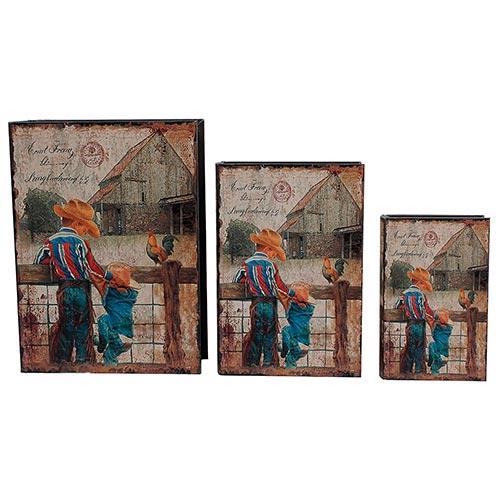 Conjunto Book Box Meninos na Cerca Oldway - 3 peças - 35x26 cm
