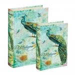 Conjunto Book Boxes - 2 Peças - Peacock Verde em MDF