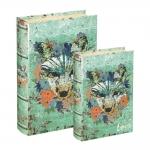 Conjunto Book Boxes - 2 Peças - Raposa Verde em MDF