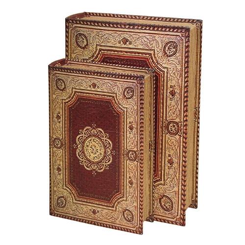 Conjunto Book Boxes - 2 Peças - Tehran em Madeira - 33,5x23,5 cm
