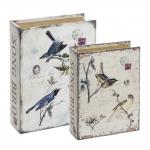 Conjunto Book Boxes - 2 Peças - The Nest Sépia em MDF