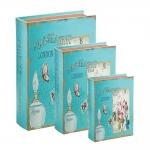 Conjunto Book Boxes - 3 Peças - London Parfum Azul em MDF