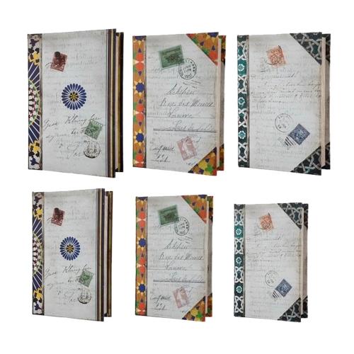 Conjunto Book Boxes - 6 Peças - Correspondência - 31x21,8 cm