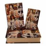 Conjunto de Book Boxes Marilyn Monroe - 3 Peças - em Madeira