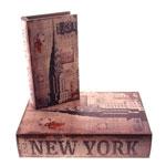 Conjunto Book Boxes New York 1931 em MDF