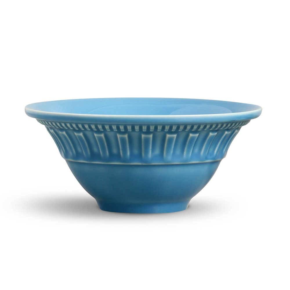 Conjunto de Bowls Parthenon Azul Celeste - 6 Peças - em Cerâmica - La Tavola - Porto Brasil - 15,5x7 cm