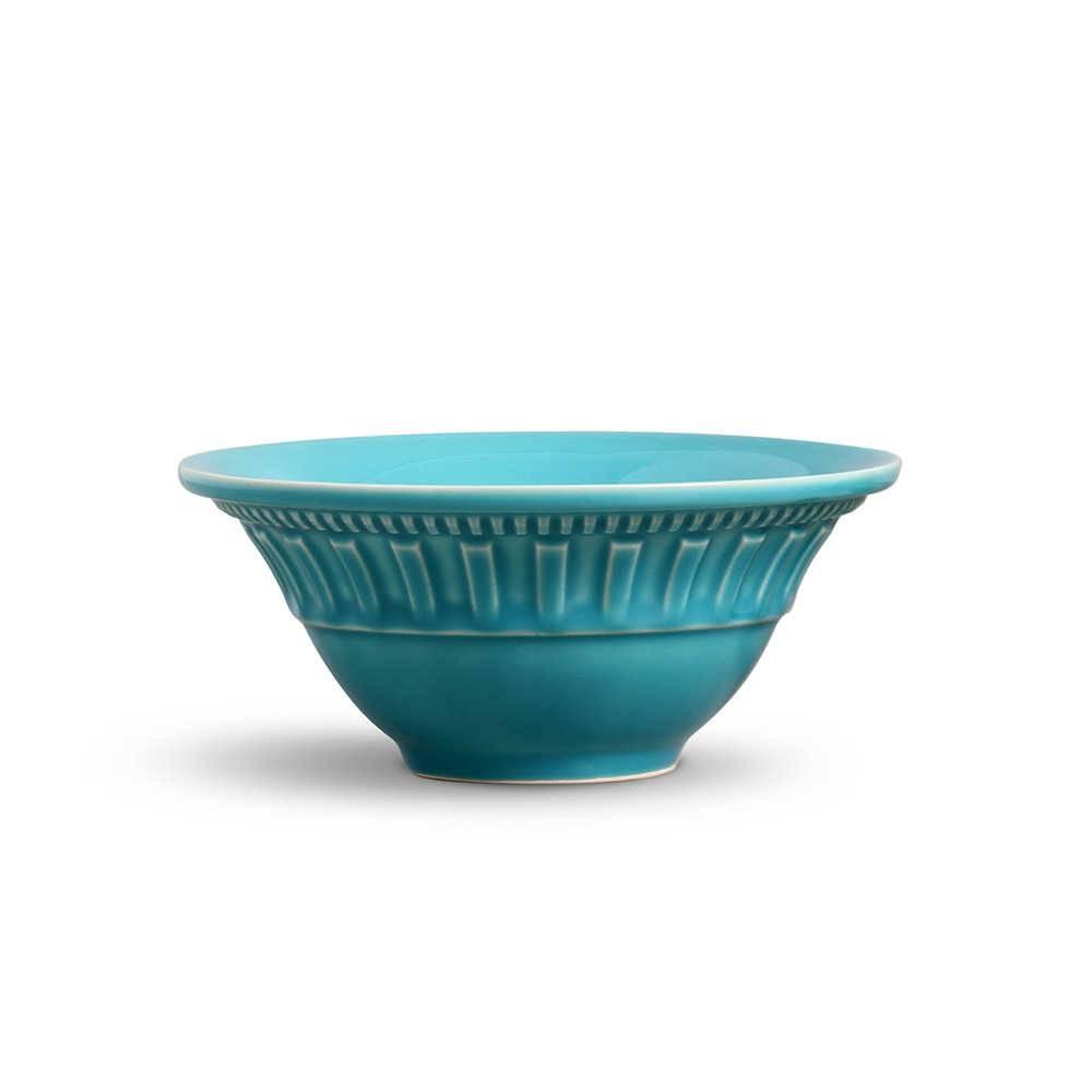 Conjunto de Bowls Parthenon Azul Poppy - 6 Peças - em Cerâmica - La Tavola - Porto Brasil - 15,5x7 cm