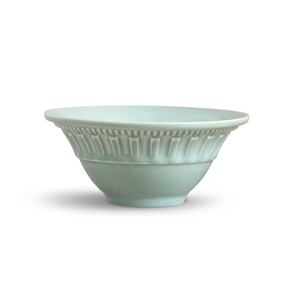 Conjunto de Bowls Parthenon Verde - 6 Peças - em Cerâmica - La Tavola - Porto Brasil - 15,5x7 cm