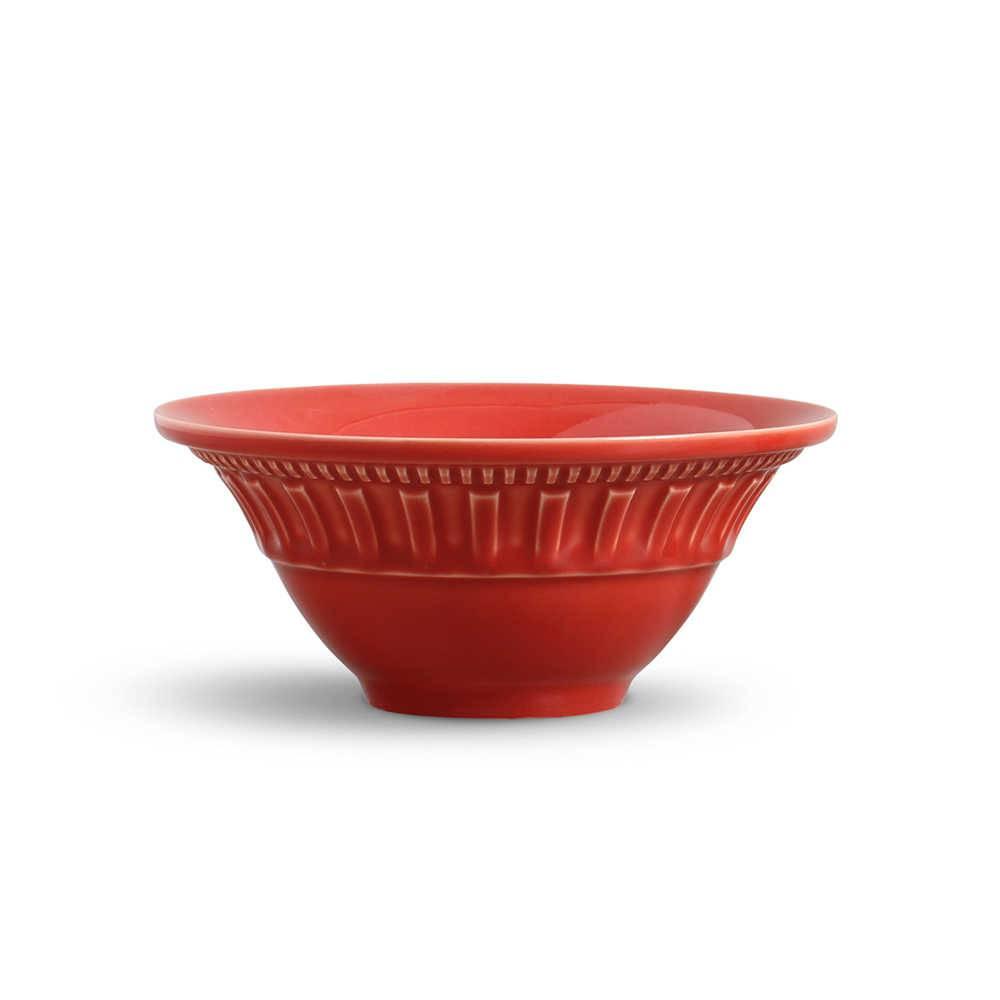Conjunto de Bowls Parthenon Vermelho - 6 Peças - em Cerâmica - La Tavola - Porto Brasil - 15,5x7 cm