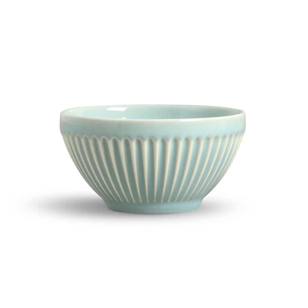 Conjunto de Bowls Plissé Verde - 6 Peças - em Cerâmica - La Tavola - Porto Brasil - 12,5x6,5 cm
