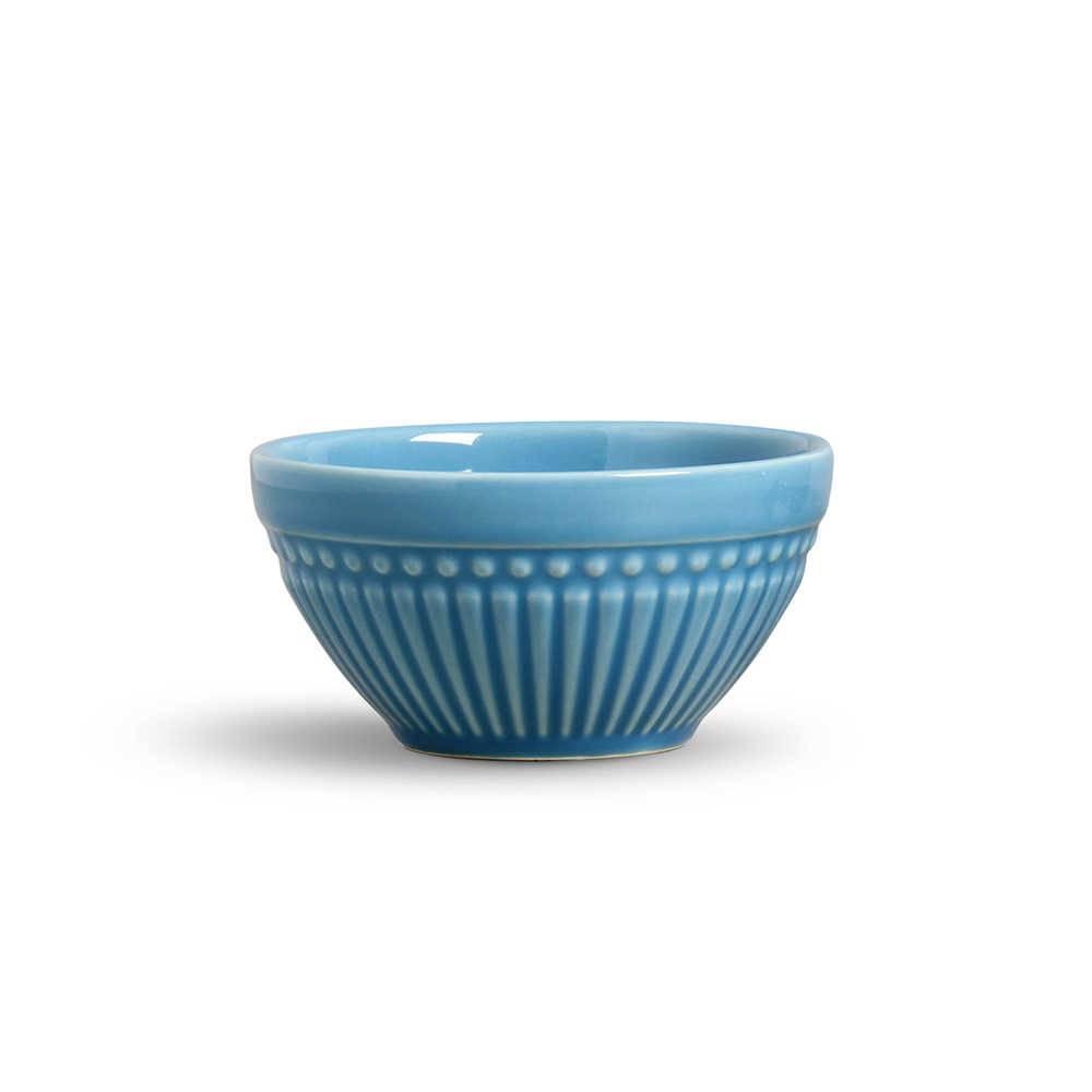 Conjunto de Bowls Roma Azul - 6 Peças - em Cerâmica - La Tavola - Porto Brasil - 12,5x6,5 cm