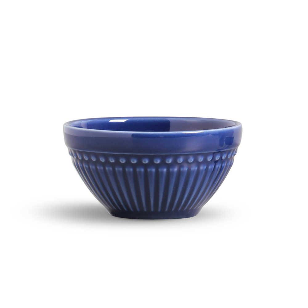 Conjunto de Bowls Roma Azul Navy - 6 Peças - em Cerâmica - La Tavola - Porto Brasil - 12,5x6,5 cm