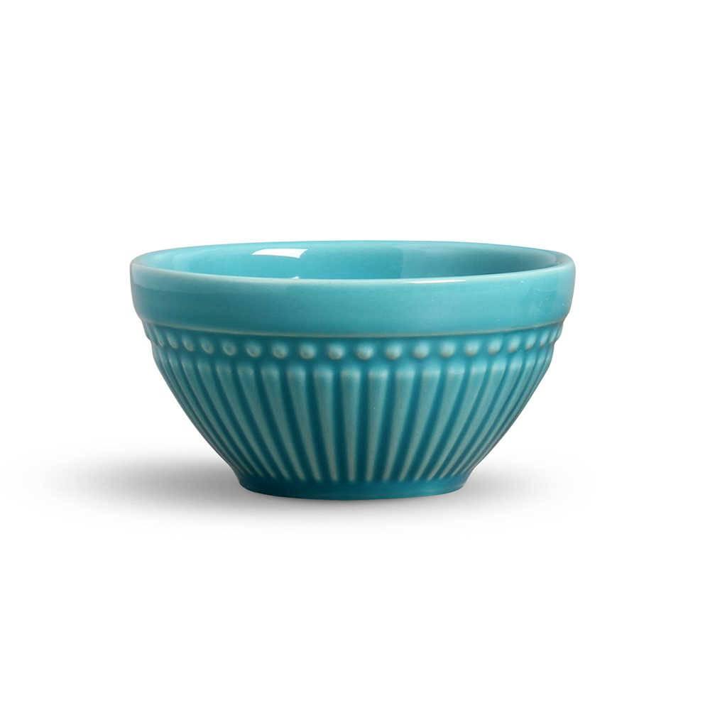 Conjunto de Bowls Roma Azul Poppy - 6 Peças - em Cerâmica - La Tavola - Porto Brasil - 12,5x6,5 cm