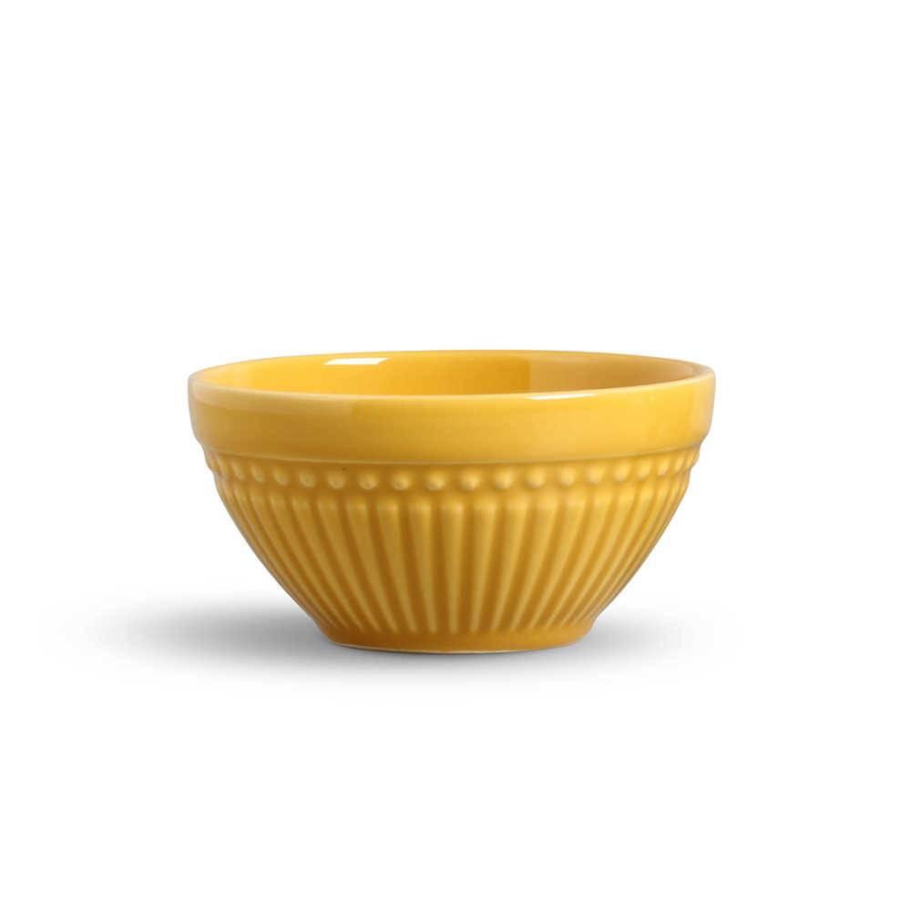 Conjunto de Bowls Roma Mostarda - 6 Peças - em Cerâmica - La Tavola - Porto Brasil - 12,5x6,5 cm