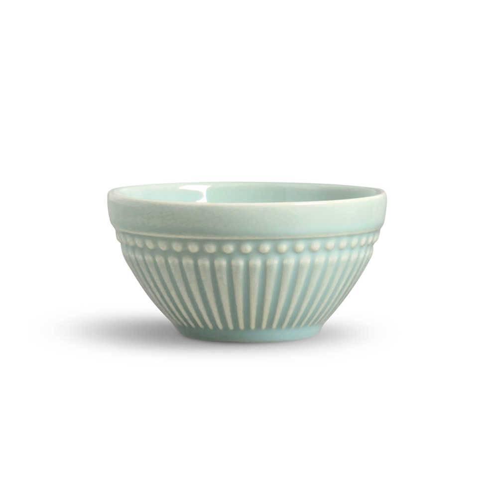 Conjunto de Bowls Roma Verde - 6 Peças - em Cerâmica - La Tavola - Porto Brasil - 12,5x6,5 cm