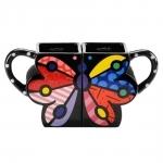 Conjunto de Canecas - 2 Peças - Butterfly em Cerâmica - 12x11 cm