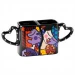 Conjunto de Canecas - 2 Peças - Love Pop em Cerâmica - 12x11 cm