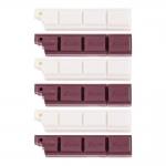 Conjunto de Canetas Chocolate - 6 Peças - Branco/Marrom - 15x2 cm