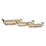 Conjunto de Cestas - 3 Peças - Retangulares Low em Metal