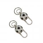 Conjunto de Chaveiros Bola de Futebol - 2 Peças - em Metal