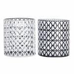 Conjunto de Donzelas Preto e Branco em Metal - 11x10 cm