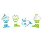 Conjunto de Esculturas - 4 Peças - Pássaros Mergulhadores