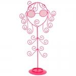 Conjunto Expositor de Joias Menina Maluquinha - 3 Peças - Rosa em Metal - 36x20 cm