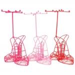 Conjunto Expositores de Joias Sapatinho Cinderela - 3 Peças - Coloridos em Metal - 15x14 cm