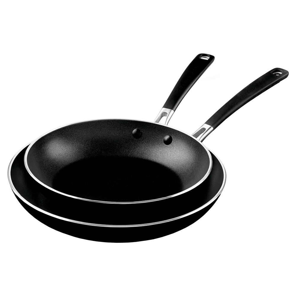 Conjunto de Frigideiras em Alumínio KitchenAid Onyx Black - KI694CE - 53,8x30,4 cm