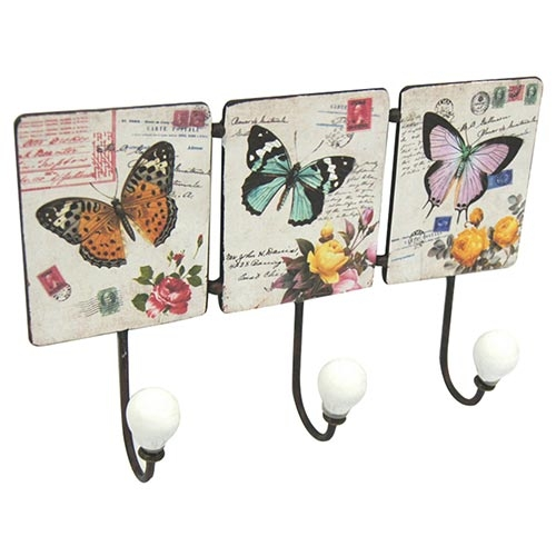 Conjunto de Ganchos de Metal Birds and Butterflies Collection Vell Chic - 3 Ganchos - 30x20 cm