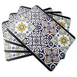 Conjunto de Jogo Americano Azulejos em MDF - 4 peças - 30x40 cm