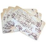 Conjunto de Jogo Americano Bar e Café em MDF - 4 peças - 30x40 cm