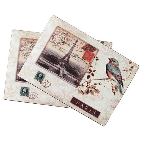 Conjunto Jogo Americano Bird Selo Paris Fullway - 2 peças - 45x32 cm