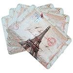 Conjunto de Jogo Americano Monumentos Paris em MDF - 4 peças - 30x40 cm
