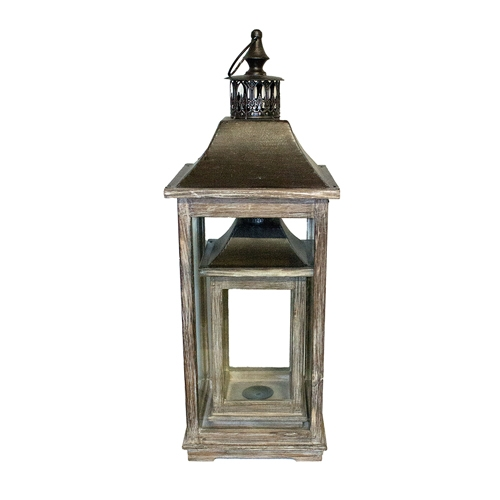 Conjunto de Lanternas - 2 Peças - Wood Oldway - 68x25 cm