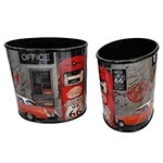 Conjunto de Lixeira Oval Office Route 66 Fullway