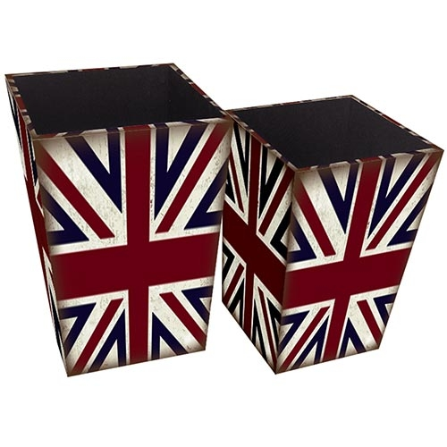 Conjunto de Lixeiras London Collection Vell Chic - 40x26 cm