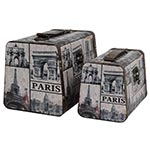 Conjunto de Maletas Paris Envelhecidas Oldway