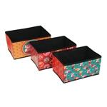 Conjunto de Organizadores - 3 Peças - Raposa Mimosa - 23x22 cm