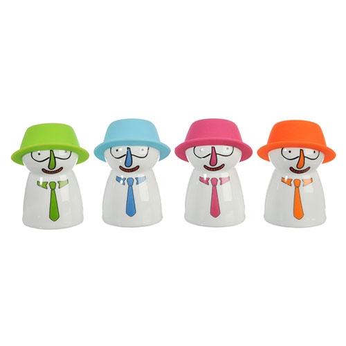 Conjunto de Paliteiros - 4 Peças - Bonecos de Gravata - 5x4 cm