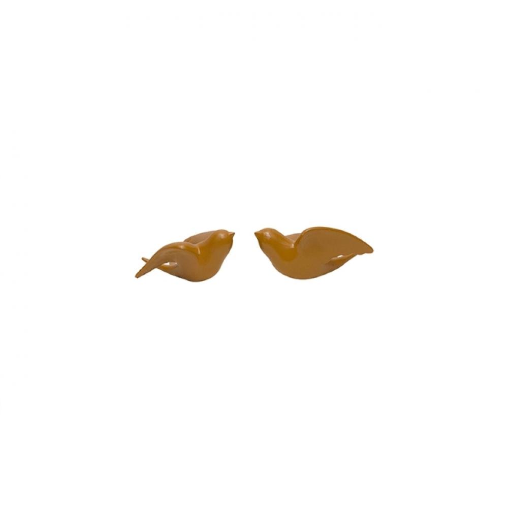 Conjunto Pássaro Parede Orange