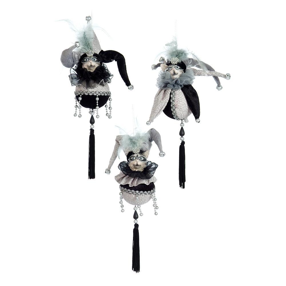 Conjunto de Pendentes Decorativos Bobo da Corte em Tecido - 25x8 cm
