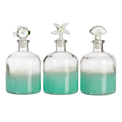 Conjunto de Perfumeiras Grandes - 3 Peças - Praia - 20x10 cm