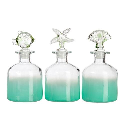 Conjunto de Perfumeiras Pequenas - 3 Peças - Praia - 16x8 cm