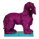 Aparador de Livros Cachorro Roxo Fullway em Resina - 30x29 cm