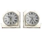 Aparador de Livros Relógios Brancos Rio de Janeiro e Paris em MDF - 17x17 cm
