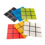Porta-Copos Jogo Cubo Mágico Colorido - 6 Peças - em Vidro